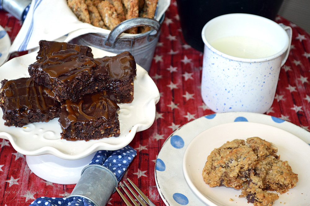Tilly's Brownies (Frosted Fudge Brownies with Caramel) ~ Writer in the Kitchen - ©MK McClintock