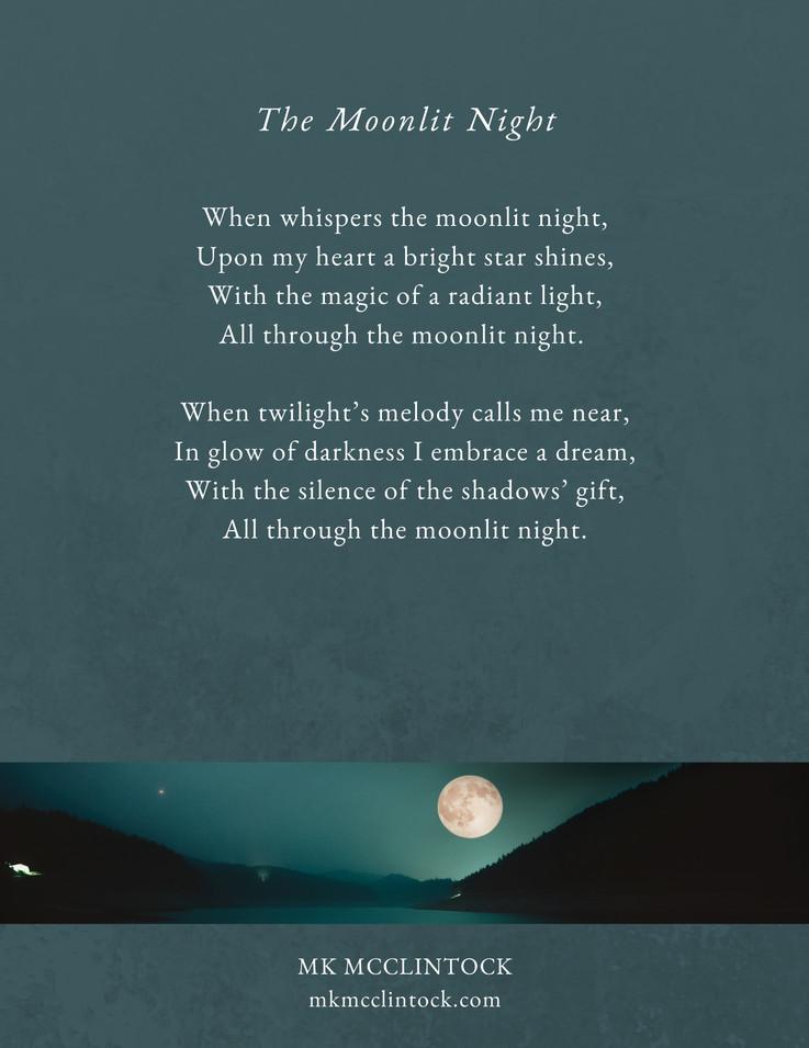 The Moonlit Night_poem_MK McClintock