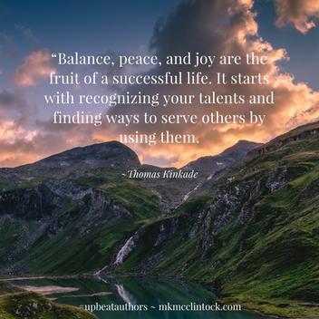 Finding Balance ~ #UpbeatAuthors