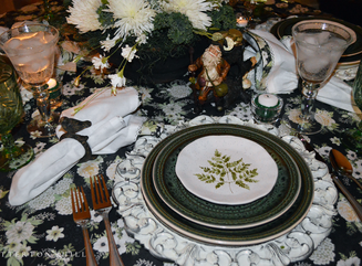 A Medley of Green Tablescape with Patsy Pies