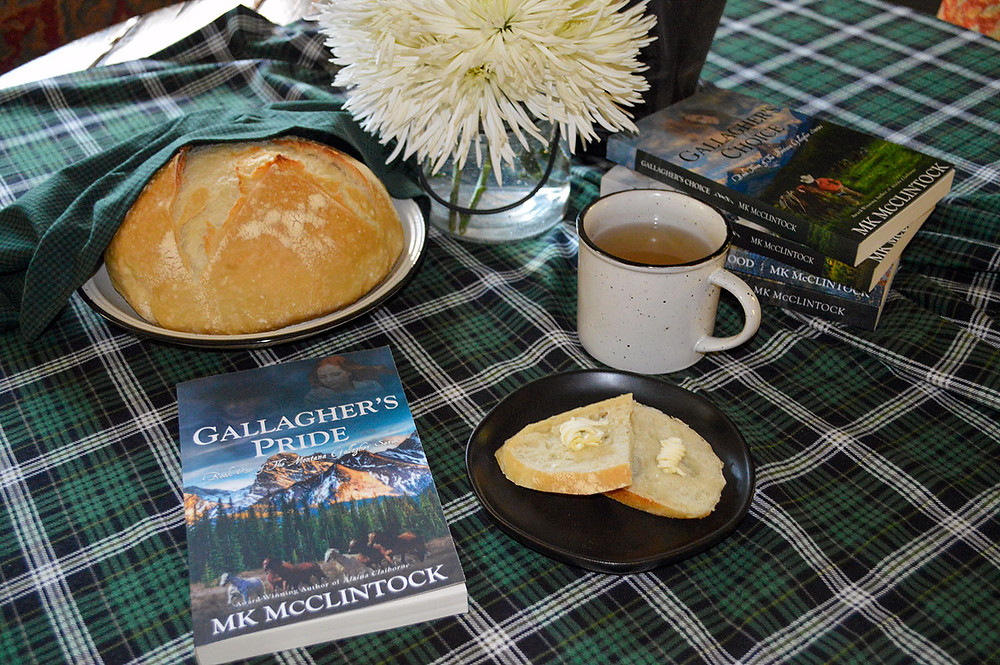 Book Break with GALLAGHER'S PRIDE - Dutch-Oven Sourdough Bread - MK McClintock