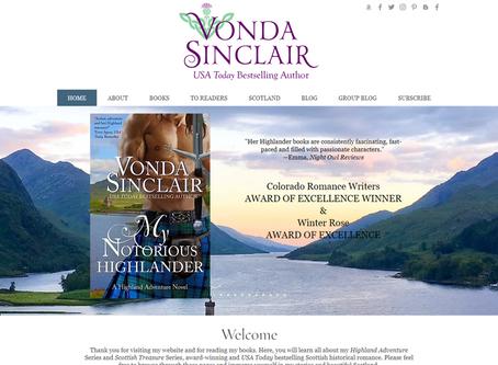 Website Redesign: Vonda Sinclair