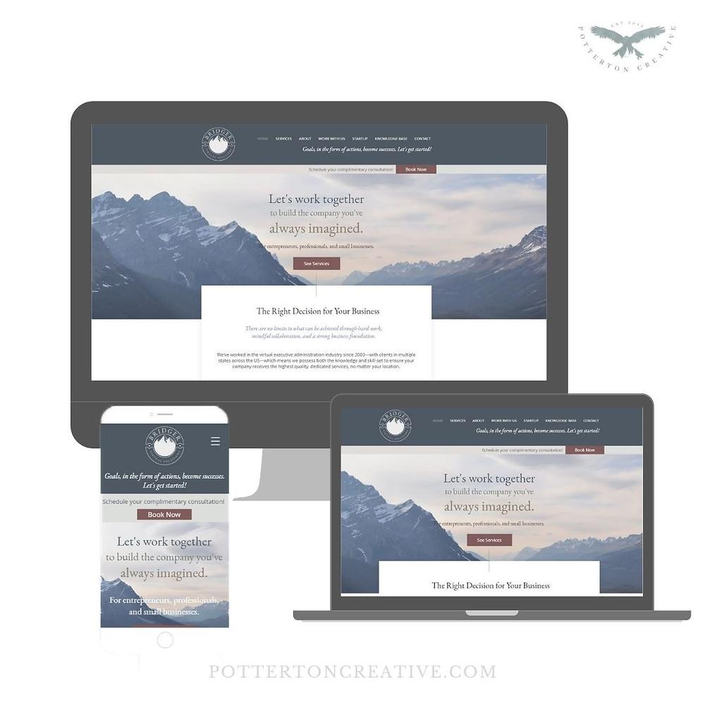 Bridger Virtual Solutions - website design by Potterton Creative