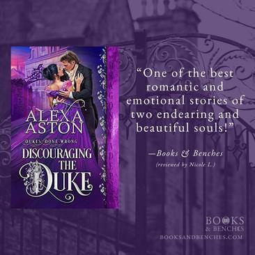 DISCOURAGING THE DUKE by Alexa Aston - A Reader's Opinion