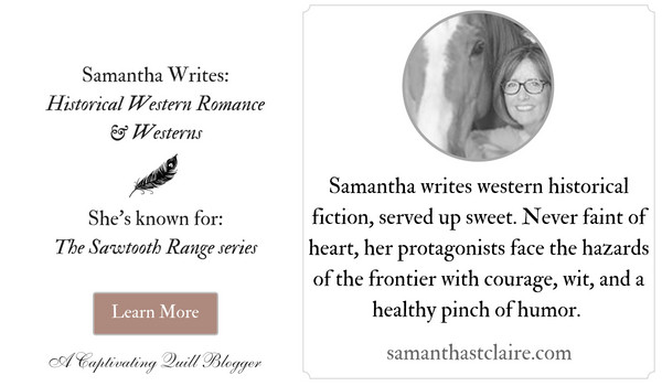 Author Samantha St. Claire at The Captivating Quill