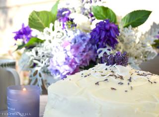 Lavender Lemon Coconut Cake ~ Writer in the Kitchen