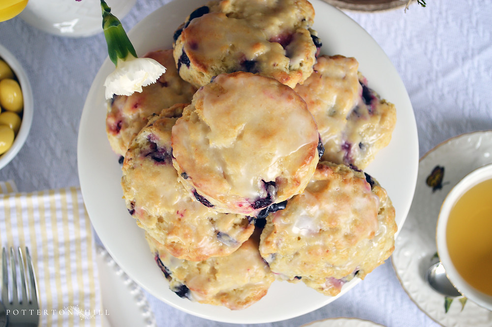 English-Style Lemon Blueberry Scones_PottertonHill.com