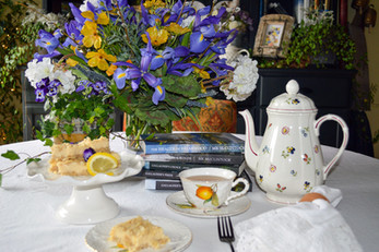 Delicious and Zesty Lemon Bars with Tea and Books