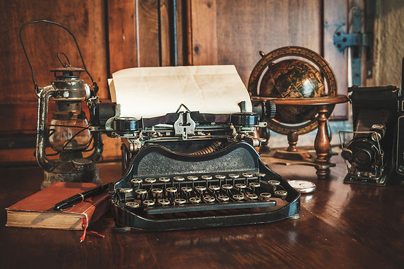 vintage photography still life with type
