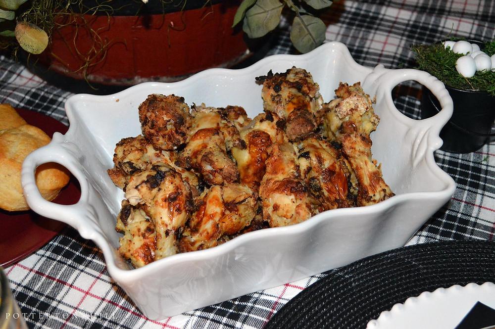 Air-Fried Chicken Dinner at PottertonHill.com