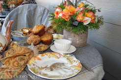 Autumn Tea and Pumpkin Muffins on the Porch_PottertonHill.com