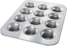 USA Pan Bakeware Crown Muffin Pan 12 wel