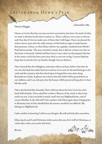Letter From Hawk's Peak - December 5, 1883