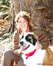 Author MK McClintock with her dog.jpg