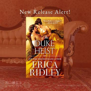 New Release - THE DUKE HEIST by Erica Ridley
