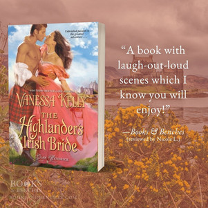 """THE HIGHLANDER'S IRISH BRIDE by Vanessa Kelly - Interview - """"Passion and Humor"""""""