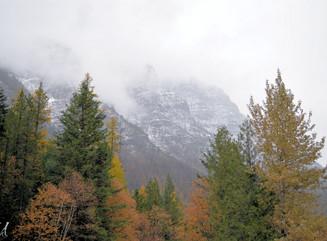 October Mist in Glacier National Park
