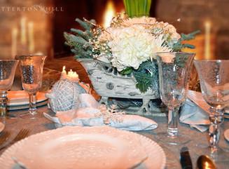 Snowflake Tablescape and Winter Decor