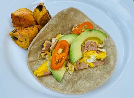 Recipe: Ham and Eggs Breakfast Cactus Tortilla Tacos