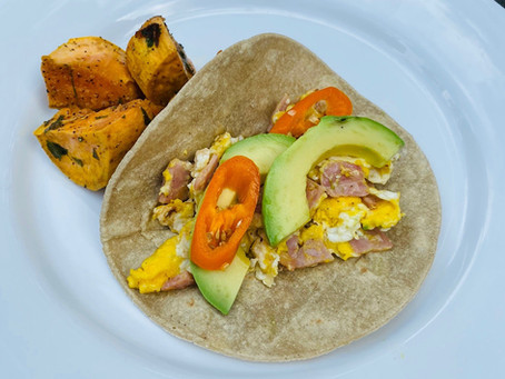 Recipe: Ham and Eggs Breakfast Cactus Tortilla Tacos