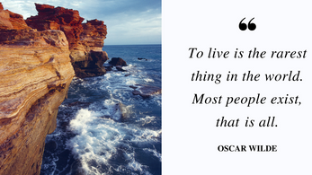 Do we merely exist or do we live?