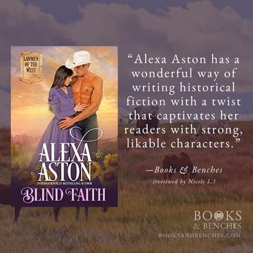 BLIND FAITH by Alexa Aston - A Reader's Opinion