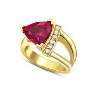Rubellite Tourmaline and diamonds