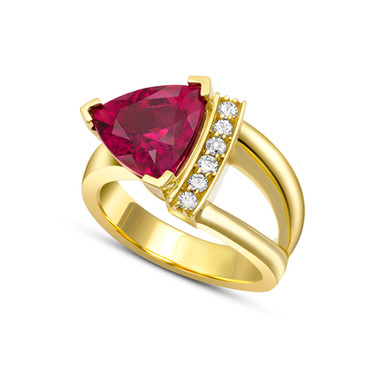 Rubellite Tourmaline and diamonds