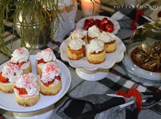 Mini Cheesecakes and Valentine's Dessert Table