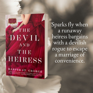"""""""Enticing"""" - THE DEVIL AND THE HEIRESS - 3 Questions with Harper St. George"""