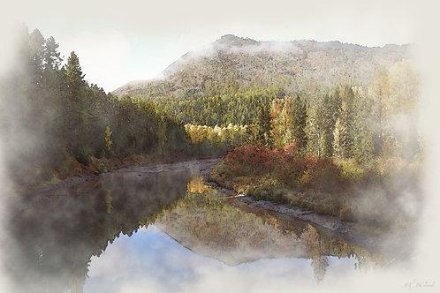 Autumn in Glacier on Canvas