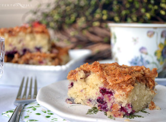 Huckleberry Coffee Cake and Afternoon Tea on the Porch