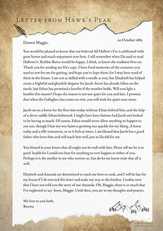 Letter From Hawk's Peak - October 20, 1883