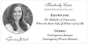 Author Kimberly Lewis at The Captivating Quill