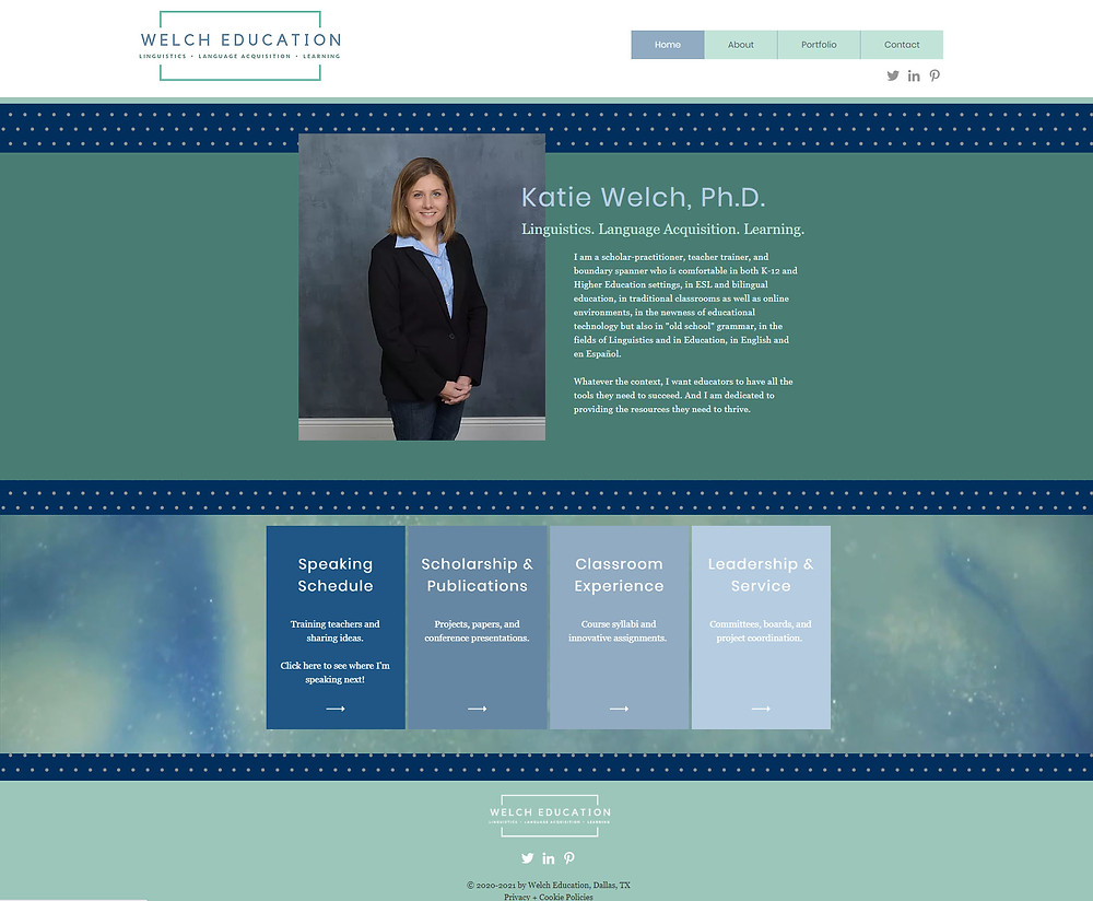 Welch Education with Katie Welch - website updates by Potterton Creative