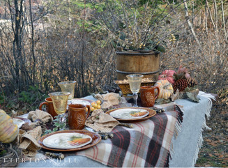 Rustic Autumn Lakeside Tablescape