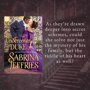"""Smoldering"" - UNDERCOVER DUKE by Sabrina Jeffries - Excerpt"