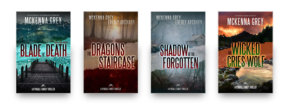 Kyndall Family Thriller series by McKenna Grey and Everly Archard