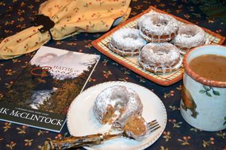 Book Break with Hattie of Crooked Creek - Baked Apple Cider Doughnuts