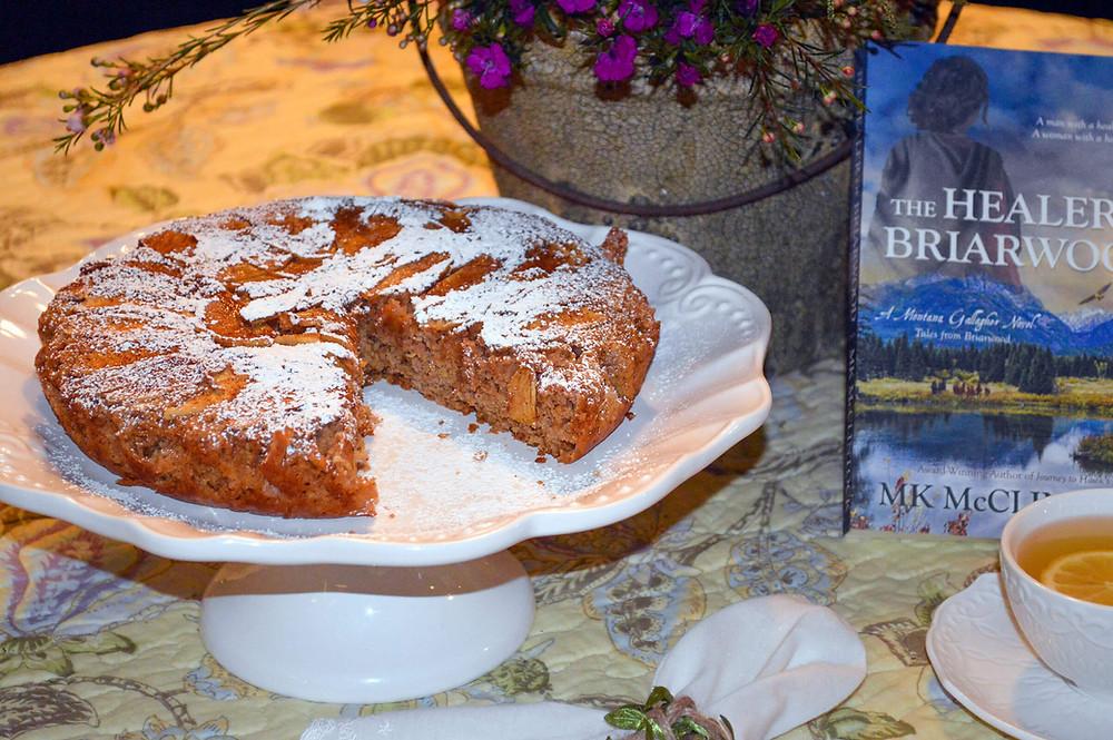 Cast-Iron Irish Apple Cake and The Healer of Briarwood - MK McClintock