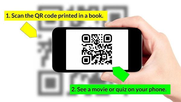 QR code in a book