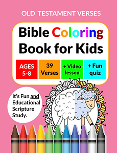 Bible coloring book on Amazon