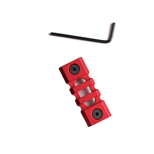3 SLOTS PICATINNY RAIL SECTION FOR KEY-MOD HANDGUARD MOD.3 - red