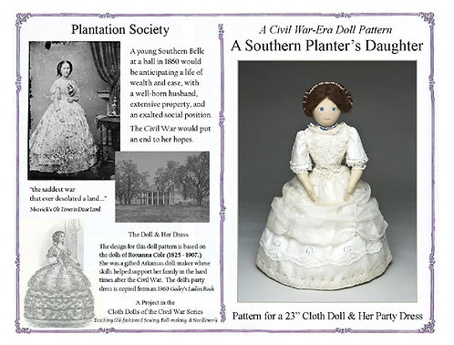 A Southern Planter's Daughter rag doll pattern