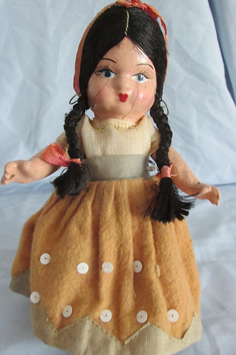 Antique 1930's composition Ethnic themed doll