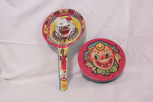 Set of 2 Vintage  1950'sTin Noise Makers