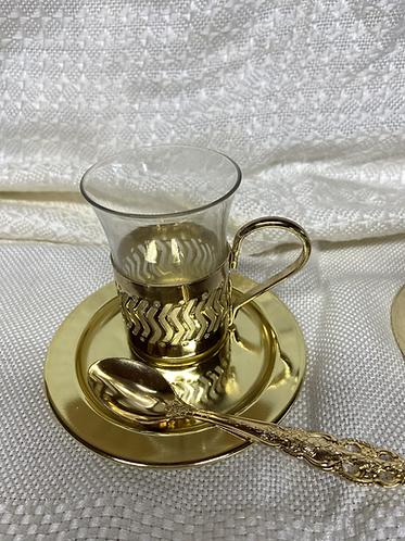 Turkish or Russian tea glasses