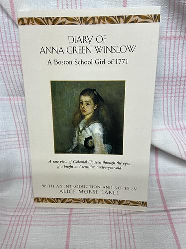 Diary of Anna Hreen Winslow