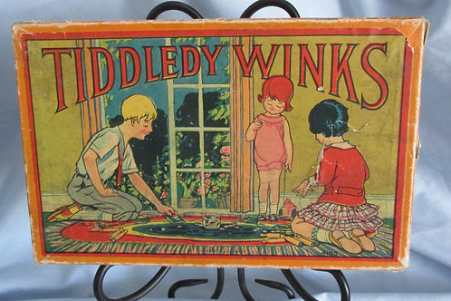 Milton Bradley Tiddly Winks and Bowling Game 1930's