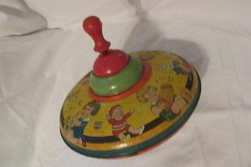 Vintage J Chein Child's Tin Litho top